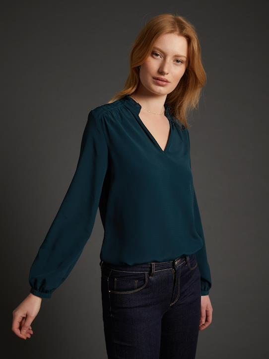 hot products clearance prices really comfortable Blouse femme Marion - vert sapin foncé, Femme - Vetement et ...