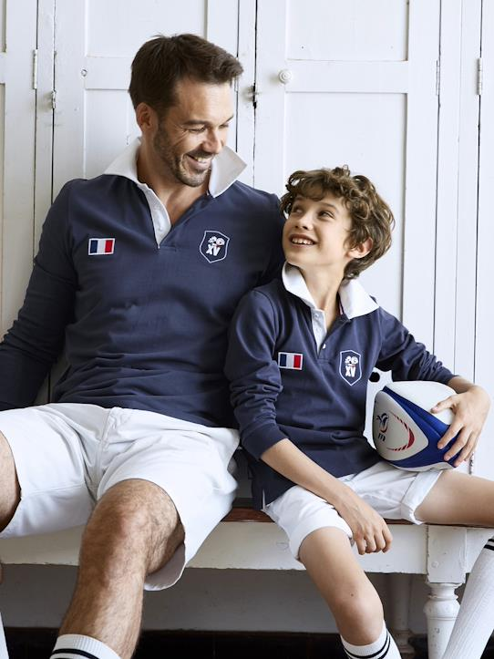 Polo Rugby FFR®  Homme Marine