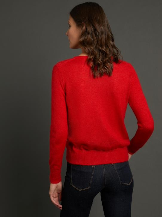 Cardigan maille douce femme Rouge