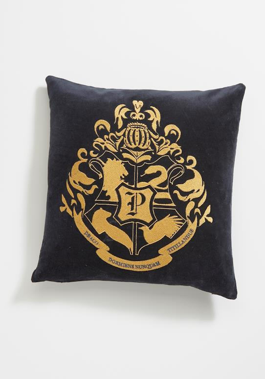 Coussin velours Harry Potter Bleu