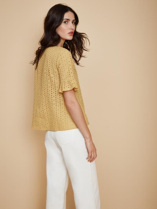 Top broderie anglaise femme Mimosa