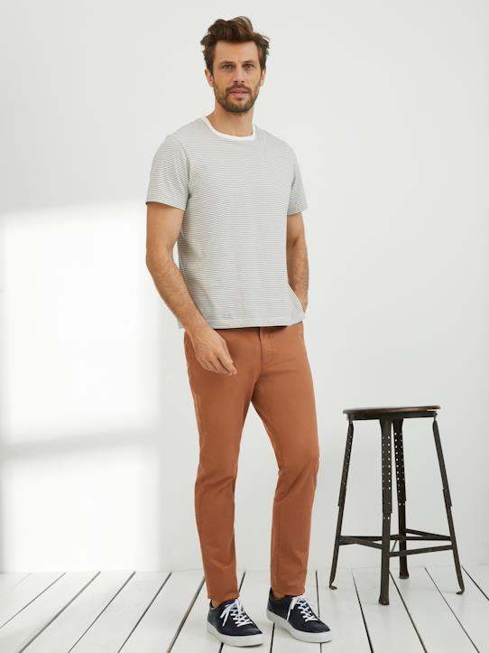 Pantalon chino Slim Fit homme Alex Beige+Bleu doux+Kaki clair+Marine+Terracotta