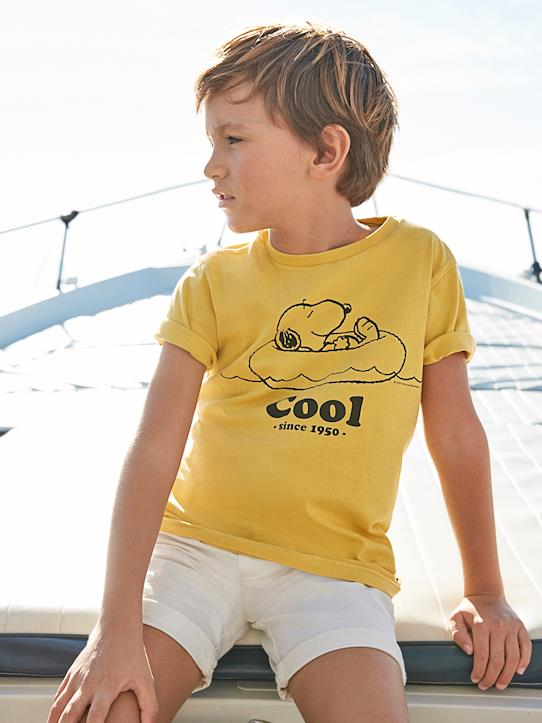 T-shirt Enfant Cyrillus X PEANUTS™ - Collection Snoopy Citron+Paprika+Vanille