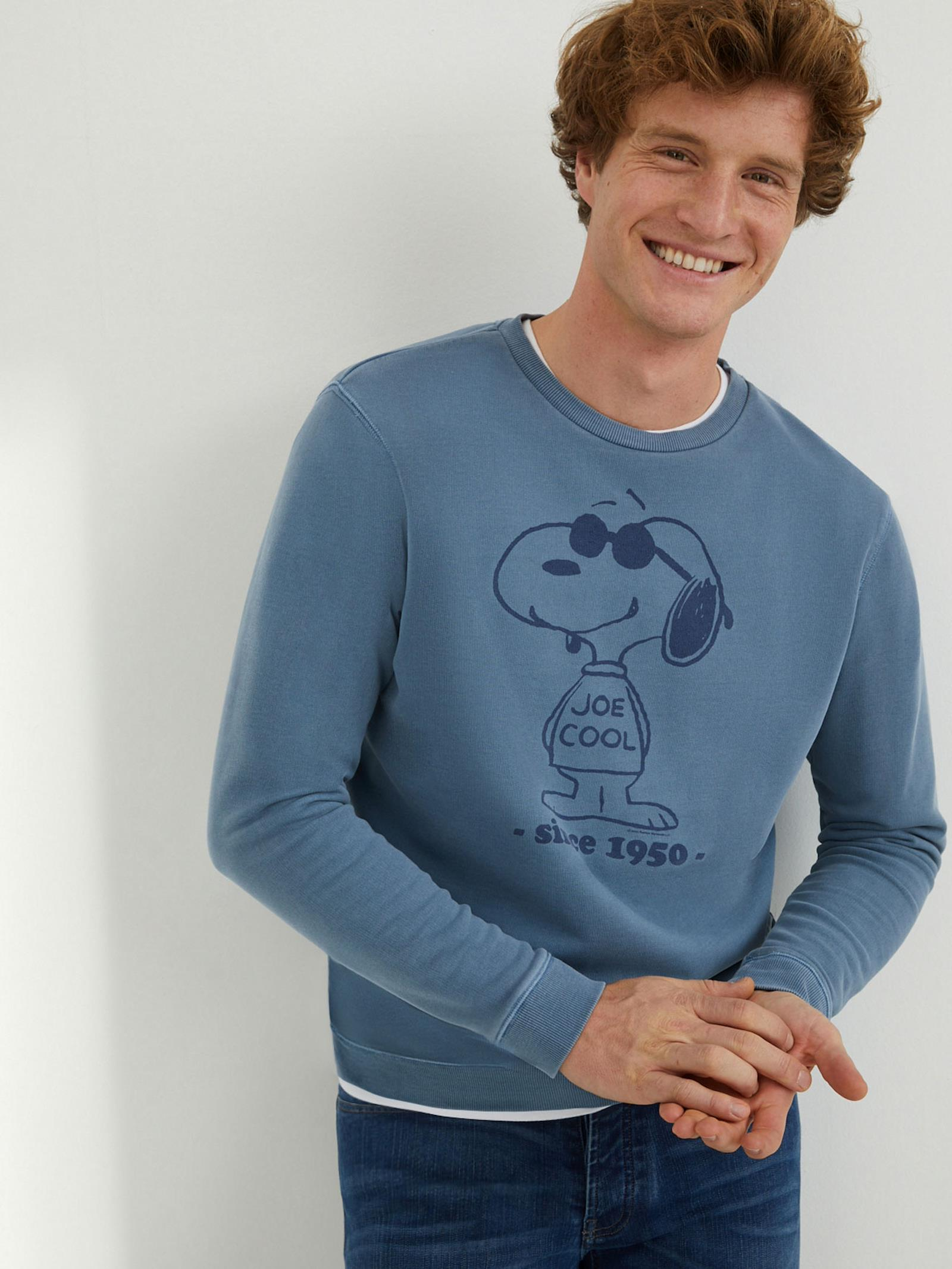 Sweat Homme Cyrillus X Peanuts® Collection Snoopy bleu