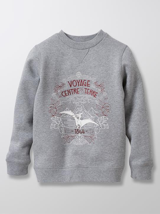 Sweat collection Jules Verne Gris cendré+Herbe sèche+Marine