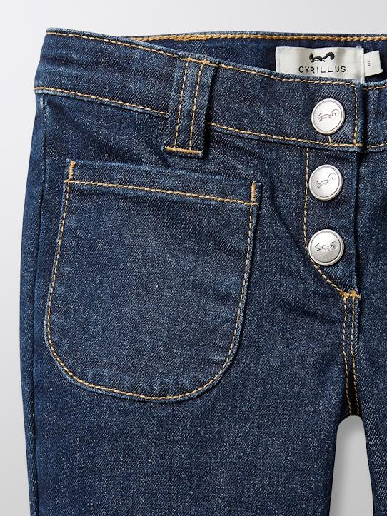 Jean en denim fille Denim brut