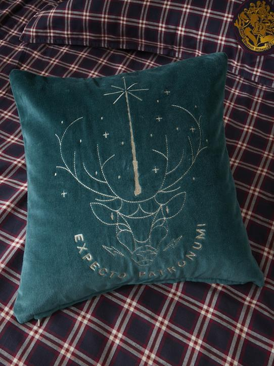 Coussin velours Collection Harry Potter Bordeaux+Vert