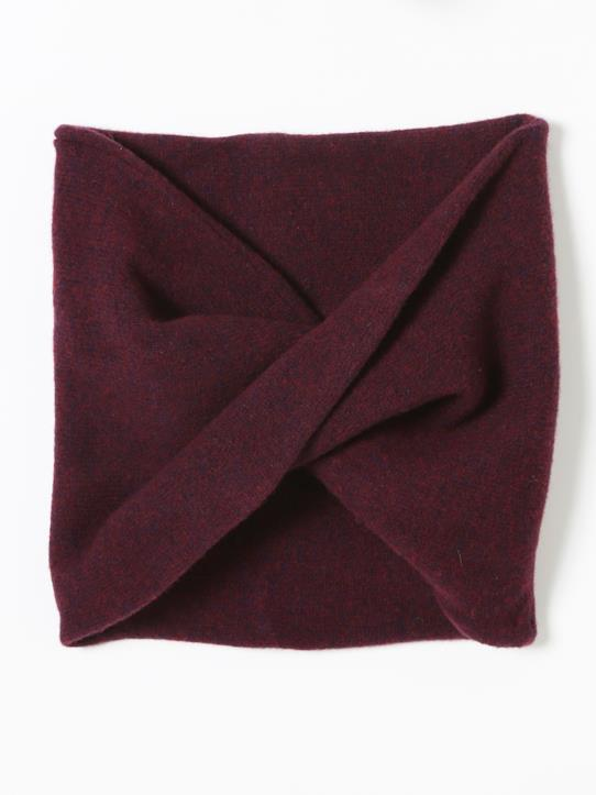 Snood lambswool fille Bordeaux