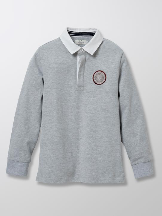 Polo-rugby Gaspard - Collection Athletic club 1977 Gris cendré+Marine
