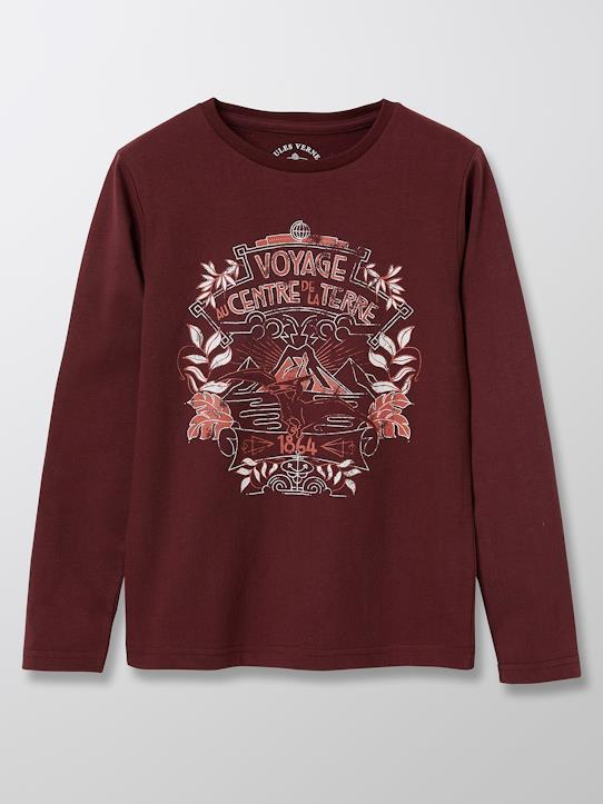 Tee-shirt collection Jules Verne Amande+Bourgogne