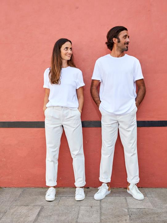 T-shirt mixte homme/femme - Collection One For Two Blanc