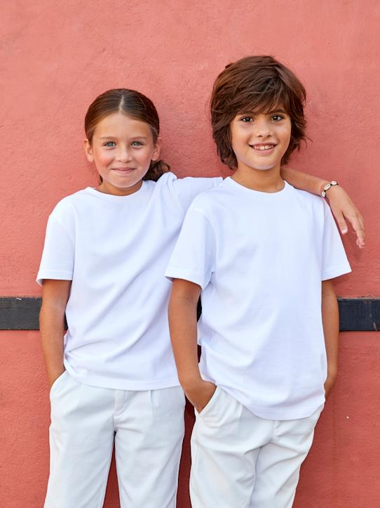 T-shirt mixte fille/garçon - Collection One For Two Blanc