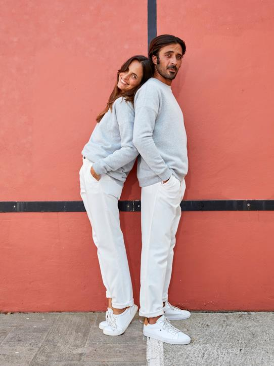 Sweat mixte homme/femme - Collection One For Two Gris chiné
