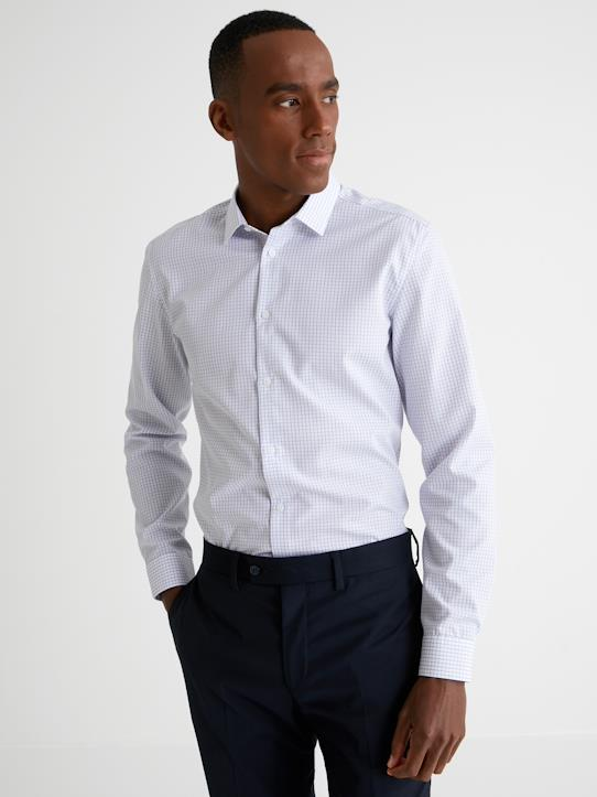 Homme-Chemises-Slim Fit-Chemise Slim Fit carreaux filet homme