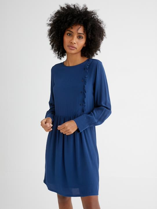 Femme-Robes-Robe boutonnage décalé femme