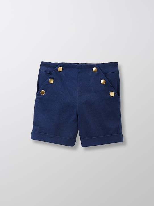 Short satiné fille Marine