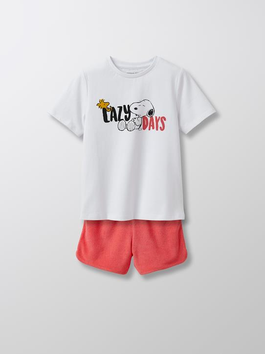 Fille-Pyjamas-Pyjashort Enfant Cyrillus X PEANUTS™ - Collection Snoopy
